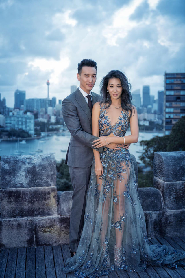celebrity wedding sunny wang and dominique choy hong
