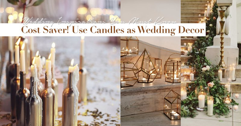 Save on decoration costs with candles hong kong wedding blog junglespirit Images